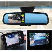 Послепродажный парковочный комплект с видео видимым экраном для BMW 2 channel view 8 Датчик Видео парковочная система