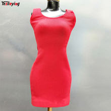 ACPLAY ATX036 1/6 Scale Clothing female Woman Red Skirt Dress Sleeveless Underwear Skirt Package Hip Clothes f 12 Inches Figure цена
