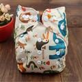 Nuevo Animal Del Dibujo Animado Cubierta Del Pañal Ajustable Reutilizable Lavable Bebé Pañal de Tela Pañales de Tela Disponibles NB035 0-2years 3-15 kg
