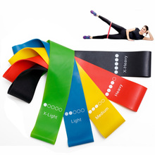 5Pcs Fitness Exercise Resistance Bands Rubber Yoga Elastic Band Loop Loops for Gym Training 0.35mm-1.1mm