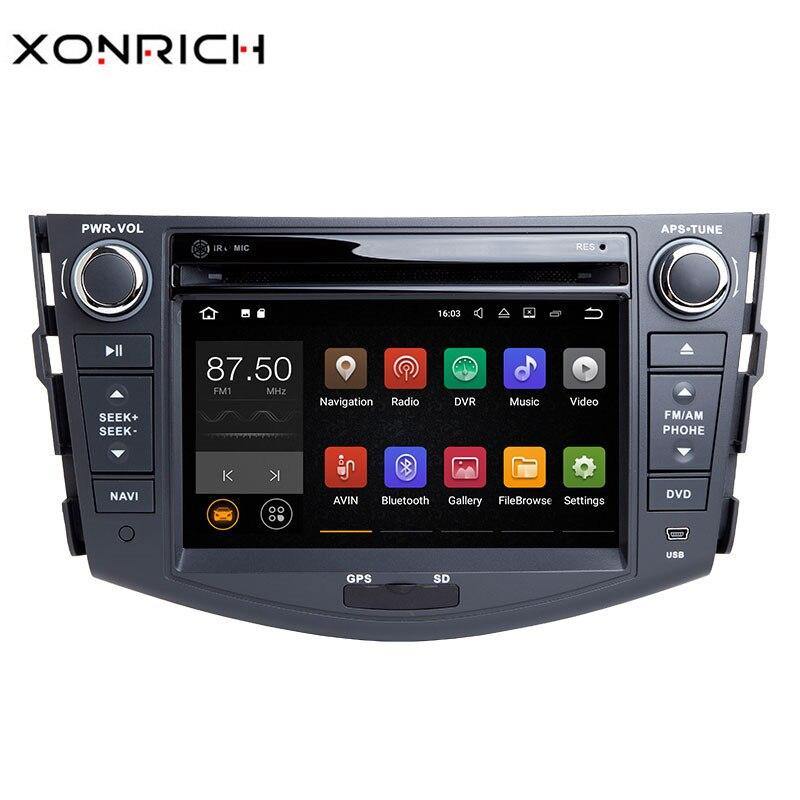 Android 8.1 Lecteur DVD de voiture Pour Toyota RAV4 Rav 4 2007 2008 2009 2010 2011 2012 Autoradio 2 din 1024*600 GPS Navigation Wifi OBD2