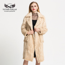 Luxury Knitted Mink Fur Coat,2017 New 100% Real Mink Coat,Natural Knitted Mink Fur Coat,Women's Mink Fur Coat Female Jacket