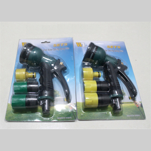 garden gun 2. 2016 Water Jet Car Wash Gun 8 Function Watering Shower Nozzle Spray + 2 Quick Garden