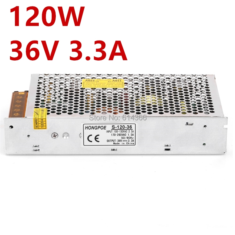 1PCS power supply 36v 120w 36v 3.3A power suply 120w 36v mini size led power supply unit ac dc converter S-120-36 image