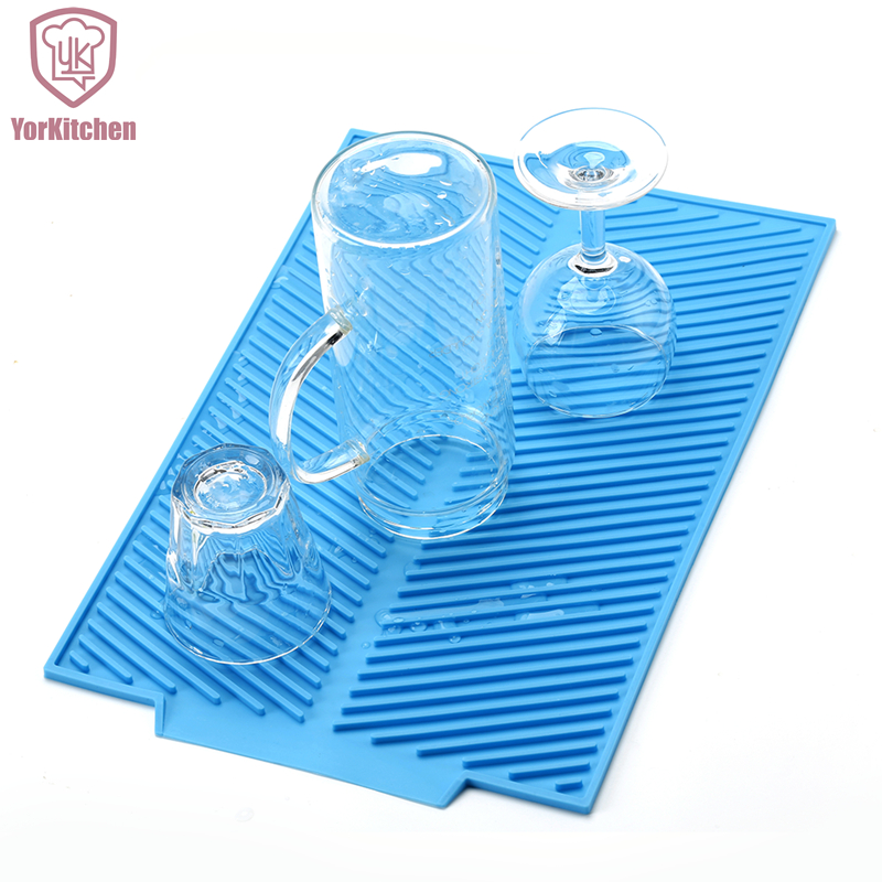 39*25CM 43*33CM Square Silicone Big Durable FDA approved Cheap Dish Drying Mat Free Shipping