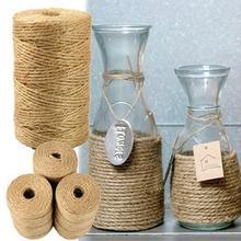 100 M/rulo doğal halat Craft için dayanıklı bahçe uygulamaları jüt dekorasyon hediye ambalaj için en iyi sanat DIY malzemeleri ç...