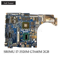 NOKOTION MB CN 08RKPN 8RKPN For Dell XPS 15 L521X Laptop Motherboard QBL00 LA 7851P SR0MU I7 3520M HM77 GT640M 2GB Main board