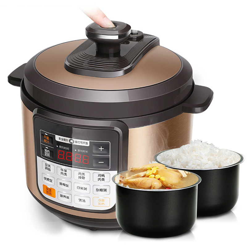 Electric Pressure Cookers Electric pressure cooker double bile rice cooker high pressure cooker 3-4 people electric pressure cookers electric pressure cooker double gall 5l electric pressure cooker rice cooker 5 people