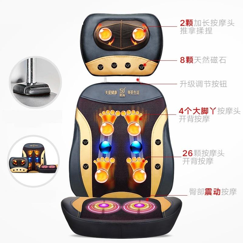 купить Electric back massager vibrator cheap body shoulder Heating massage chair sofa machine Neck masage cushion chair дешево