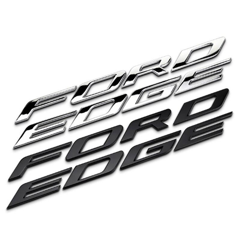 Dsycar 1Pcs 3D Metal FORDEDGE Car Side Fender Rear Trunk Emblem Badge Sticker Decals for Ford EDGE JEEP Dodge Nissan Honda BMW