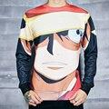BAOLONG Teen Spirit Футболка One Piece Обезьяна D Луффи подростков 3d Печати Толстовки Женщины Мужчины Мода Одежда Наряды Перемычки