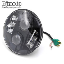 цена на BJMOTO 7 H4 H13 Motorcycle LED Headlight for Honda Hornet 600 250 900 CB400 CB500 CB1300 VTEC VTR250 OffRoad Headlamp DRL Light