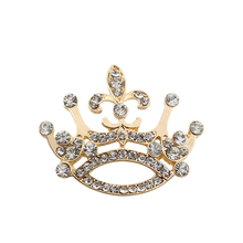 Exquisite Fashion Full Crystal Crown Brooch Luxury Rhinestone Queen Princess Pin For Women Christmas Gift Jewelry