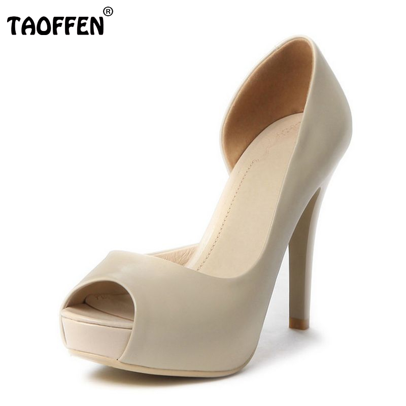 women real genuine leather platform peep open toe high heel shoes sexy fashion brand pumps ladies heels shoes size 34-39 R5616 dropshipping best selling genuine leather super high heel 12cm platform 3 cm evening shoes sexy point toe high heels r243