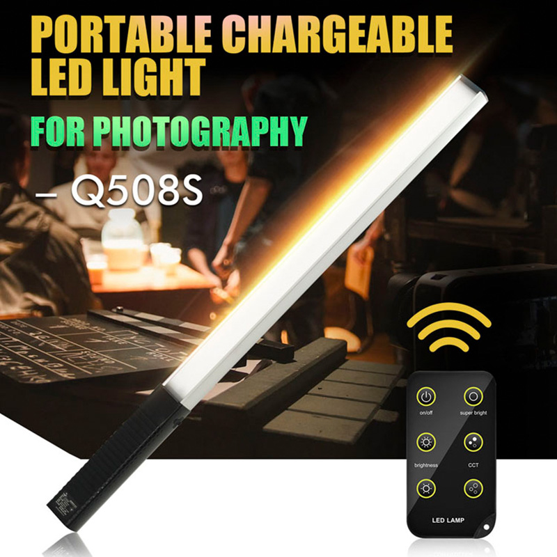 3000K-5700K Handheld Ice Stick LED Video Light, UY-Q508S Highlight Memory Outdoor Remote Photography Fill Light 1000LM цена