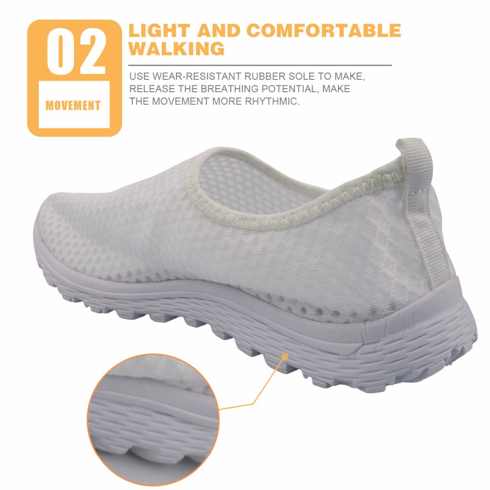 0fdce1eb9 FORUDESIGNS 2018 Summer Breathable Women Mesh Shoes Fashion Pud Dog Beach  Flat Shoes Female Ladies Casual Slip on Light Shoes-in Women s Flats from  Shoes on ...