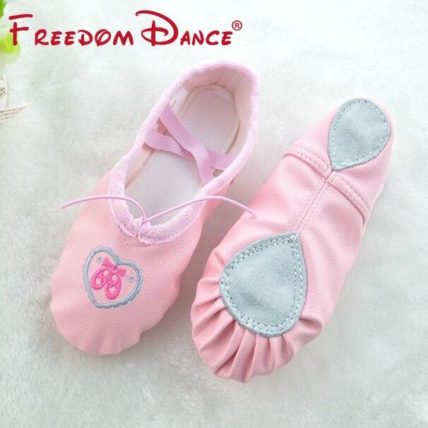 Quantità Scarpe da donna in pelle Soft Split Suola Balletto Scarpe da ballo Toe Shoes Scarpe fitness per bambini Pink Beige Pantofole Tutte le dimensioni