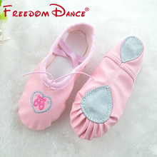 Discount Limited Quantity Girls Women Leather Fabric Soft Split Outsole Ballet Dance Shoes Toe Shoes Children Fitness Shoes