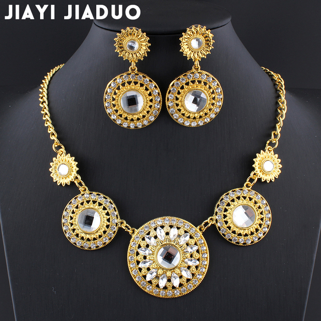 jiayijiaduo Bridal popular India wedding jewelry sets for women Gold