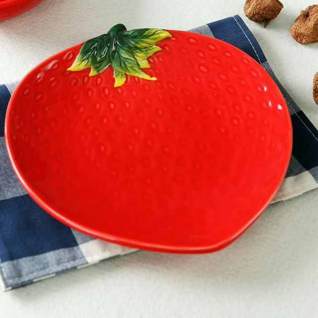 Creative Porcelain Fruit Dish Plate Exquisite Chingtechen Ceramic Dinnerware Apple Strawberry Carambola Pumpkin Home Tableware & Creative Porcelain Fruit Dish Plate Exquisite Chingtechen Ceramic ...