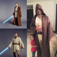Star Wars Obi Wan Kenobi Jedi Tunic Cosplay Costume for Adult New Version Free shipping