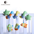 Cartoon Baby Toy Mobile Toys For Kids Sea Animals Baby Toys 0-12 Months Baby Rattle Educational Plush Rattles Stroller HK1116