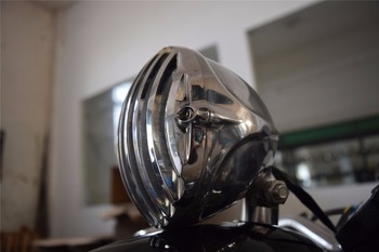 Free shipping NEW cafe racer Motorcycle Headlight CUSTOM ALUMINUM led HEAD LIGHT FOR HARLEY and davison