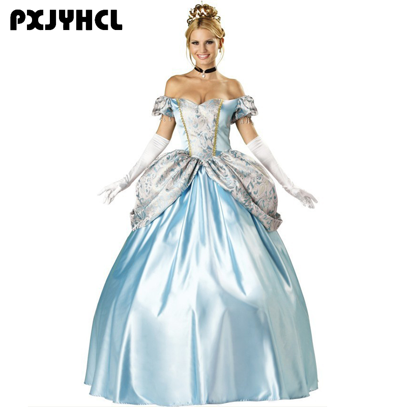 Halloween Sissy Princess Cosplay Costume For Women Adult Sexy Fairy Tale Palace Long Dress Fantasia Party Performance Clothes