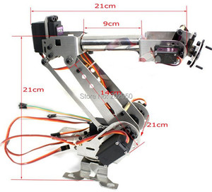 1set DIY 6 Axis Rotating Mechanical Robotic Arm Clamp Kit 6DOF Metal Robot Arm Stainless Steel Manipulator For Arduino Raspberry