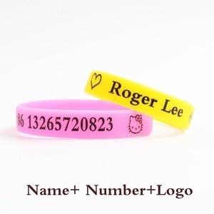 Высококачественные силиконовые браслеты на заказ, популярное многократное содержание для детей, для взрослых, ID, индивидуальные гравированные DIY личные детские подарки