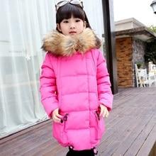 Новый зимнее пальто девушки пуховик дети верхняя одежда теплая одежда детская одежда утка вниз высокое качество