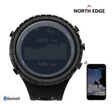North edge wysokiej jakości na zewnątrz wspinaczki sportowe zegarki mężczyźni wielofunkcyjny cyfrowy zegarek bluetooth military watch reloj hombre