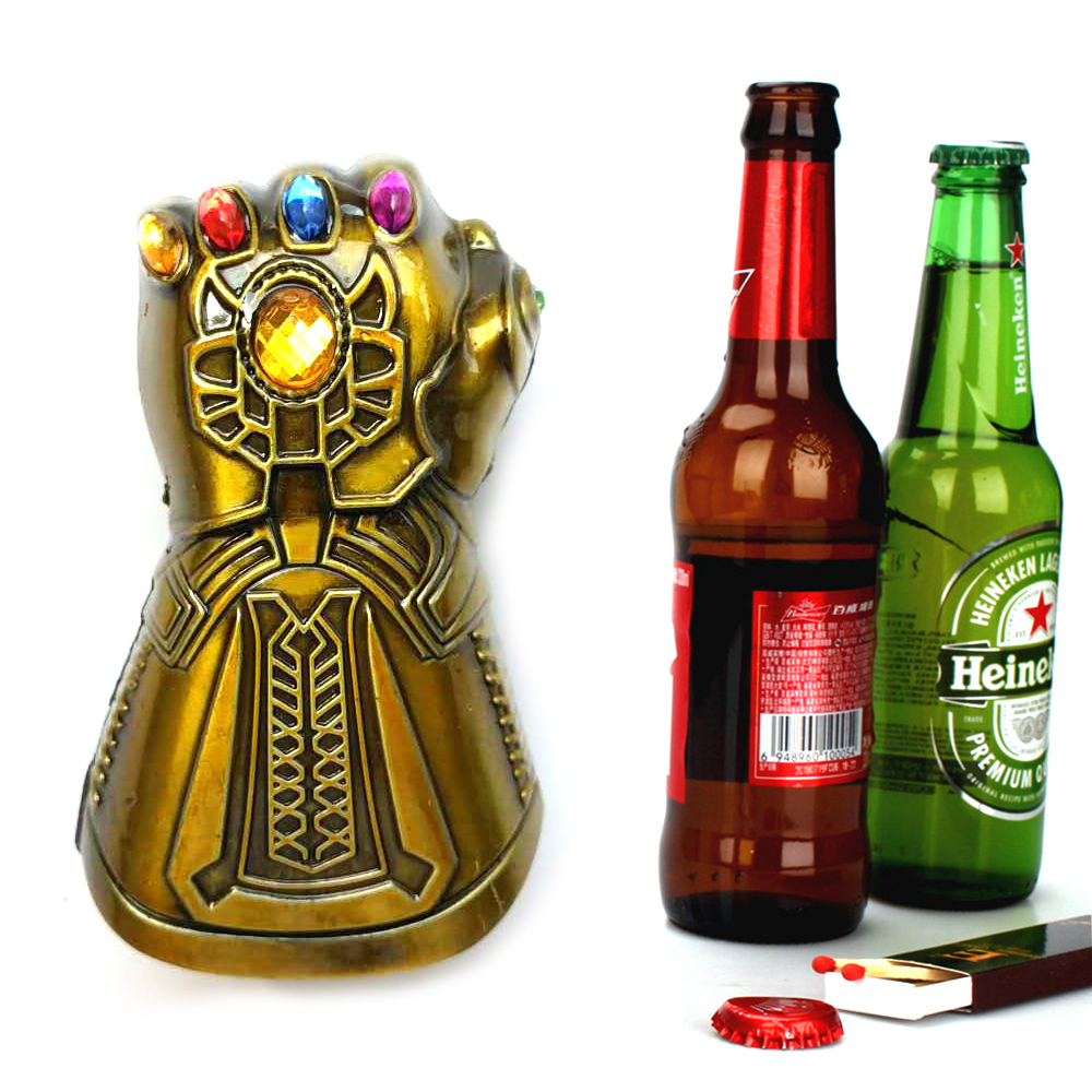 Creative Beer Opener Multi-purpose Infinity Thanos Gauntlet Glove  Soda Glass Cap Remover Kitchen Bar Tools Household Openers