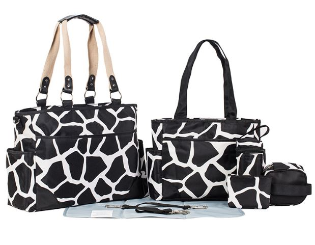 Aboutbaby 7 հատ / նախադրել Mummy Maternity Diaper Bag Քայլող տոպրակ Մայր ուսի պայուսակ Tote Messenger Bags Travel Travel Organizer Bag