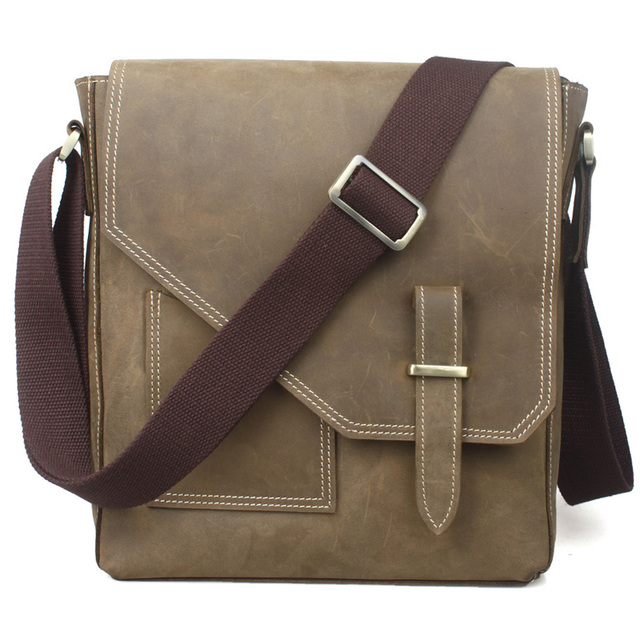 TIDING Leisure small shoulder bag for men genuine leather messenger bag free shipping 1065