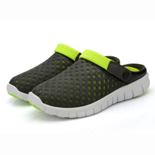 New 2016 Men Slippers Fashion Breathable Hollow Out Flip Flops mesh Trend summer outside lazy men flat hombre