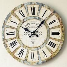 Creative Nostalgia Rome Large Wall Clock Quartz Bracket Kitchen Wood mute Clocks Home Decoration