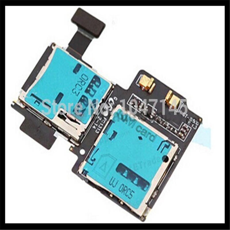 High Quality New For Samsung Galaxy S4 S IV i9500 i9505 i337 SIM Card Tray & Memory SD Card Holder Flex Cable Parts