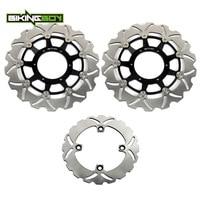 BIKINGBOY Front Rear Brake Discs Rotors Disks CBR 1000 RR 2006 2007 RVT 1000 R VTR 1000 SP 1 00 01 SP 2 02 03 04 05 06 07 RC51