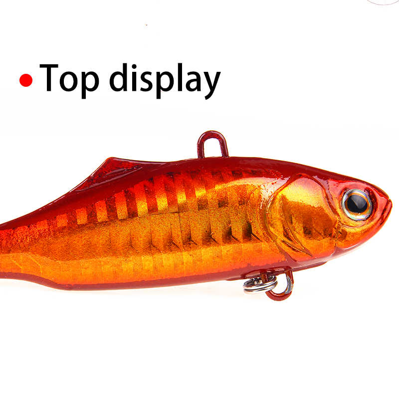 YTQHXY 1 cái/lốc Câu Cá lure VIB Cứng Biat 70mm 22.6g Với 2 Âm Bass Treble Móc Nhân Tạo Bả Crankbait wobblers Pesca WQ243