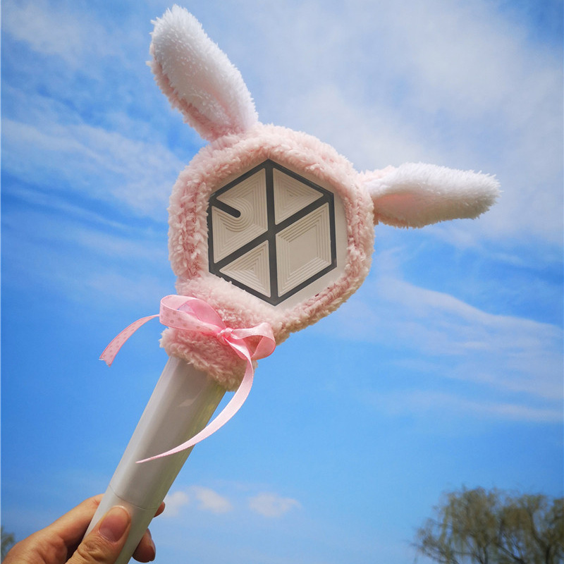 Kpop EXO Light Sticks Plush Cover Se Hun CHAN YEOL Same Doll Fans Collection Gifts