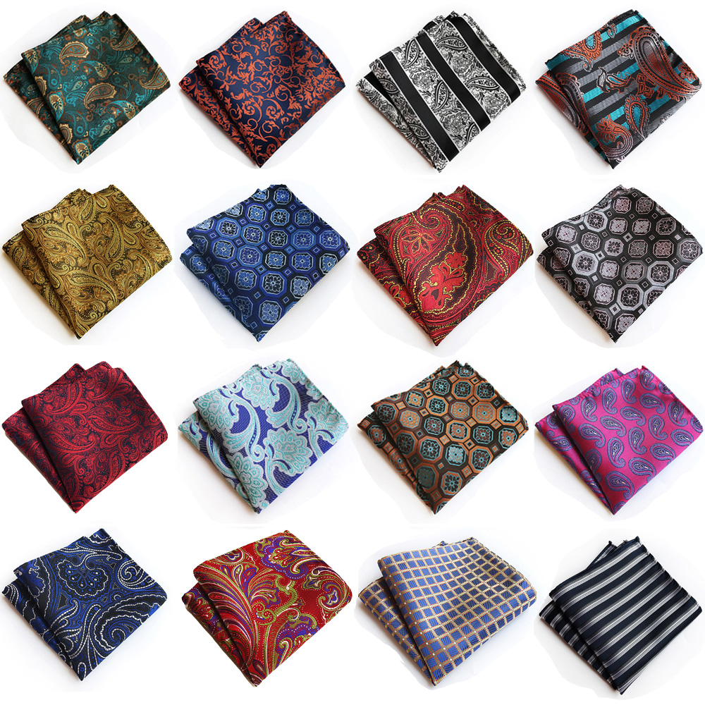 Men Formal Paisley Floral Handkerchief Wedding Party Business Pocket Square BWTHZ0317