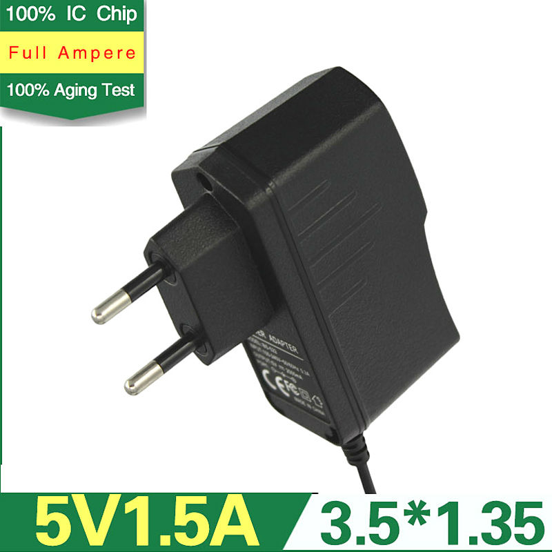 5 V-1.5A Switching Adapter With DC3.5 -1.35mm EU Plug