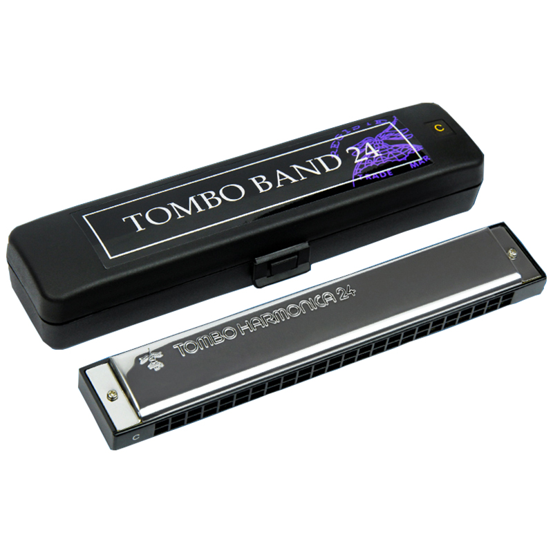 Tombo Choice Brand Harmonica 24 Holes Tremolo Harmonica Blues Harp Mouth Organ Key of C ABS Musical Instruments Tombo Band  3124 easttop brass chromatic harmonica 16 hole brass abs comb musical instruments mouth organ chromatic slide harmonica good sound