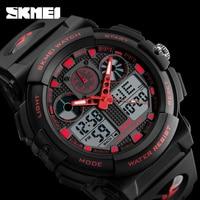 SKMEI Men Quartz Digital Dual Display Wristwatches Outdoor Sports Watches Electronic Male Clock Relogio Masculino Relojes