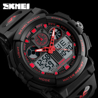 SKMEI Men Quartz Digital Dual Display Wristwatches Outdoor Sports Watches Electronic Male Clock Relogio Masculino Relojes
