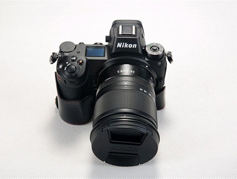 Coffee Pu Leather Base Case Bag Cover Skin Protector For Nikon Z6 Z7 Camera