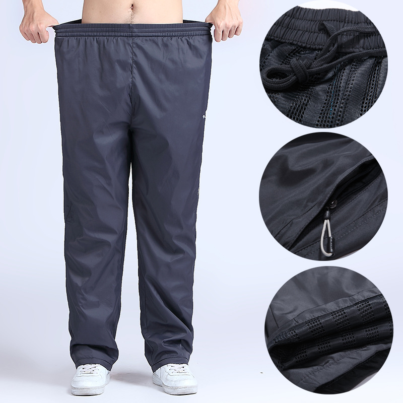 4XL-6XL Men Running Pants Fitness Plus Size Sport Leggings Elastic Drawstring Bodybuilding Jogging Sportswear Gym Trousers Hot men elastic waist drawstring striped pants
