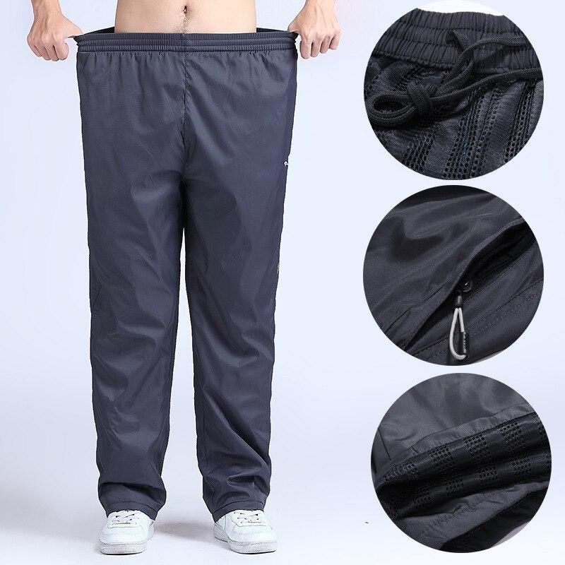 4XL 6XL Men Running Pants font b Fitness b font Plus Size Sport Leggings Elastic Drawstring