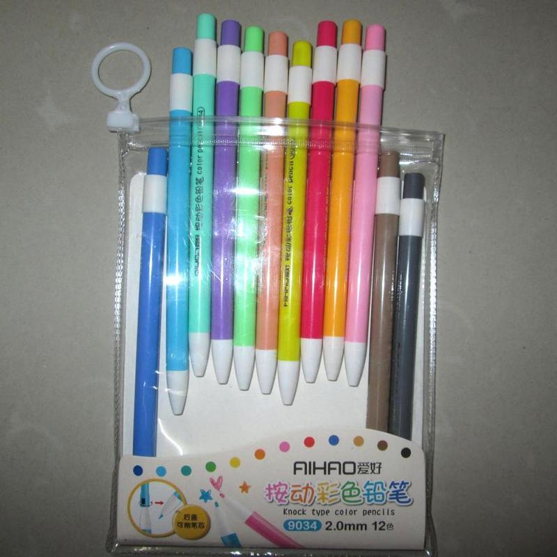Lápis Comuns cores/set nova chegada lápis mecânico Feature : Non-toxic